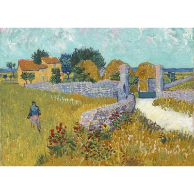 grafika-Puzzle - 24 pieces - Magnetic Pieces - Vincent Van Gogh - Farmhouse in Provence, 1888