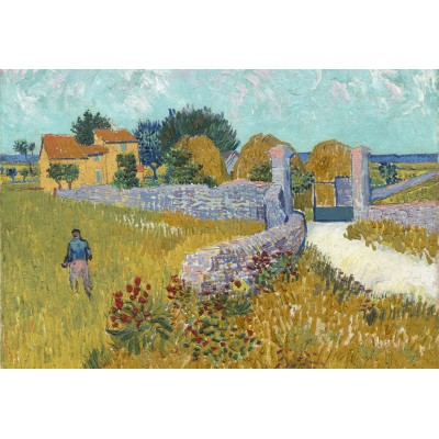 grafika-Puzzle - 12 pieces - XXL Pieces - Vincent Van Gogh - Farmhouse in Provence, 1888