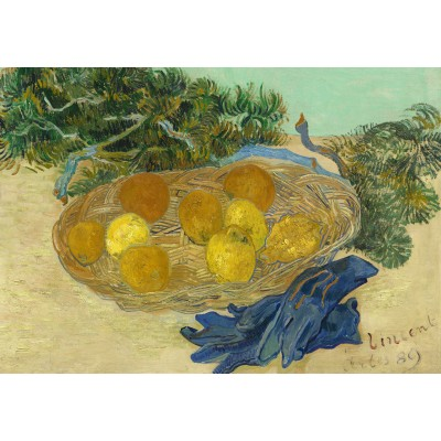 grafika-Puzzle - 100 pieces - Vincent Van Gogh - Still Life of Oranges and Lemons with Blue Gloves, 1889