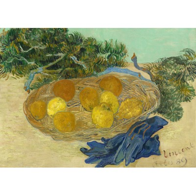 grafika-Puzzle - 24 pieces - Magnetic Pieces - Vincent Van Gogh - Still Life of Oranges and Lemons with Blue Gloves, 1889