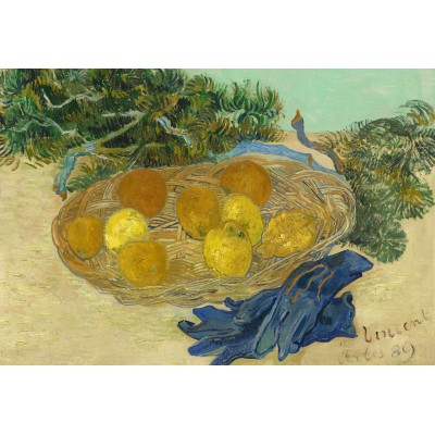 grafika-Puzzle - 12 Teile - XXL Teile - Vincent Van Gogh - Still Life of Oranges and Lemons with Blue Gloves, 1889