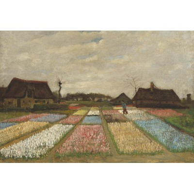 grafika-Puzzle - 12 pieces - XXL Pieces - Vincent Van Gogh - Flower Beds in Holland, 1883