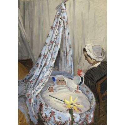 grafika-Puzzle - 24 pieces - Magnetic Pieces - Claude Monet - The Cradle - Camille with the Artist's Son Jean, 1867