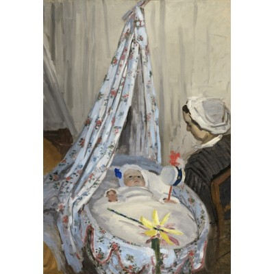 grafika-Puzzle - 12 pieces - XXL Pieces - Claude Monet - The Cradle - Camille with the Artist's Son Jean, 1867