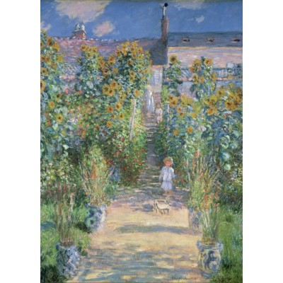 grafika-Puzzle - 24 pieces - Magnetic Pieces - Claude Monet - The Artist's Garden at Vétheuil, 1880