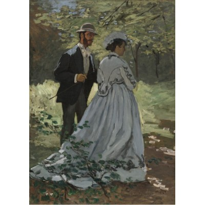 grafika-Puzzle - 24 pieces - Magnetic Pieces - Claude Monet - Bazille and Camille, 1865