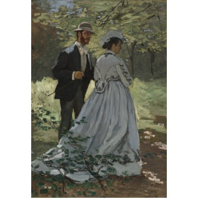 grafika-Puzzle - 12 pieces - XXL Pieces - Claude Monet - Bazille and Camille, 1865