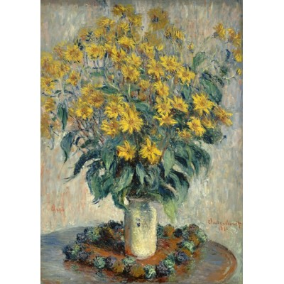 grafika-Puzzle - 24 pieces - Magnetic Pieces - Claude Monet - Jerusalem Artichoke Flowers, 1880