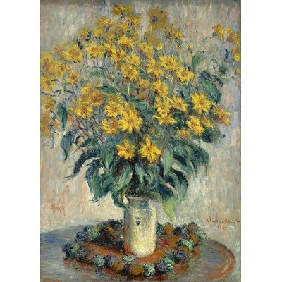 grafika-Puzzle - 24 pieces - Claude Monet - Jerusalem Artichoke Flowers, 1880