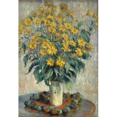 grafika-Puzzle - 12 pieces - XXL Pieces - Claude Monet - Jerusalem Artichoke Flowers, 1880