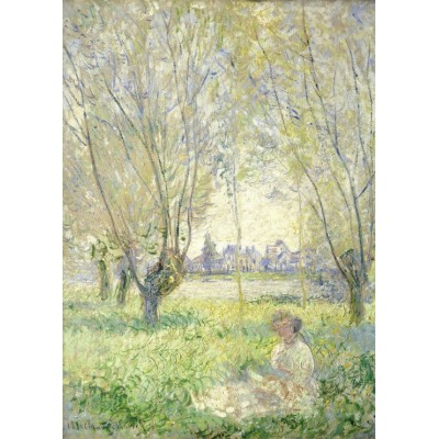 grafika-Puzzle - 24 pieces - Claude Monet - Woman Seated under the Willows, 1880