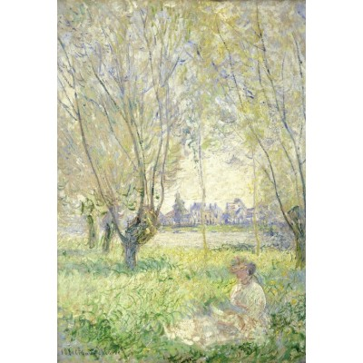 grafika-Puzzle - 12 pieces - XXL Pieces - Claude Monet - Woman Seated under the Willows, 1880