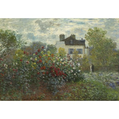 grafika-Puzzle - 100 pieces - Claude Monet - The Artist's Garden in Argenteuil, 1873