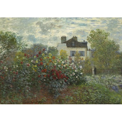 grafika-Puzzle - 24 pieces - Magnetic Pieces - Claude Monet - The Artist's Garden in Argenteuil, 1873
