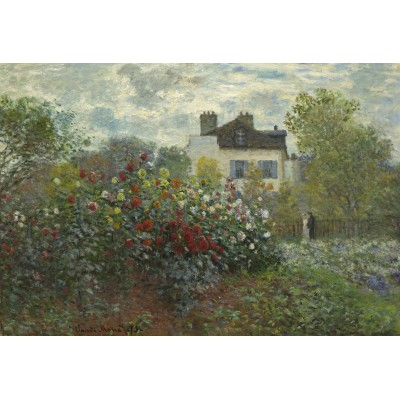 grafika-Puzzle - 12 pieces - XXL Pieces - Claude Monet - The Artist's Garden in Argenteuil, 1873