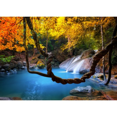 grafika-Puzzle - 24 pieces - Waterfall in Forest