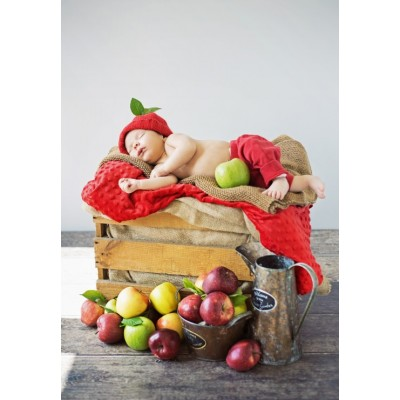grafika-Puzzle - 100 pieces - Konrad Bak: Baby and Apples