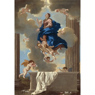 grafika-Puzzle - 100 pieces - Nicolas Poussin: The Assumption of the Virgin, 1630/1632