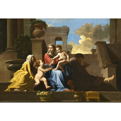 grafika-Puzzle - 100 pieces - Nicolas Poussin: The Holy Family on the Steps, 1648