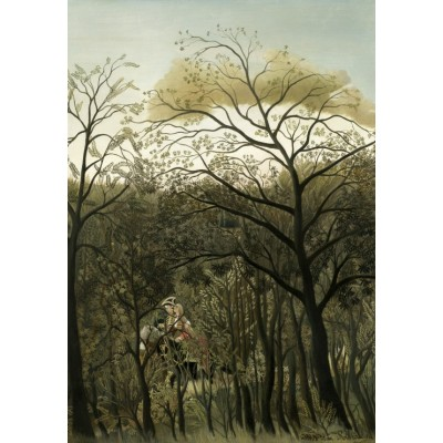 grafika-Puzzle - 100 pieces - Henri Rousseau: Rendezvous in the Forest, 1889