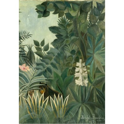 grafika-Puzzle - 100 pieces - Henri Rousseau: The Equatorial Jungle, 1909