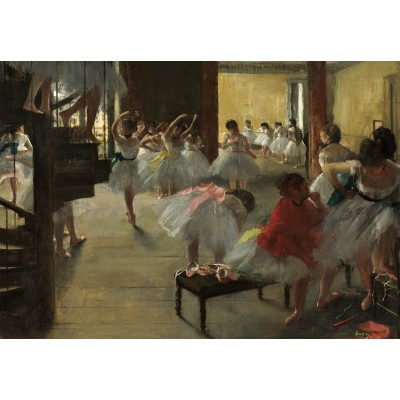 grafika-Puzzle - 100 pieces - Edgar Degas: The Dance Class, 1873
