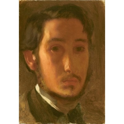 grafika-Puzzle - 100 pieces - Edgar Degas: Self-Portrait with White Collar, 1857