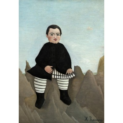 grafika-Puzzle - 100 pieces - Henri Rousseau : Boy on the Rocks, 1895/1897