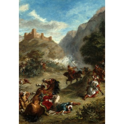 grafika-Puzzle - 100 pieces - Eugène Delacroix: Arabs Skirmishing in the Mountains, 1863