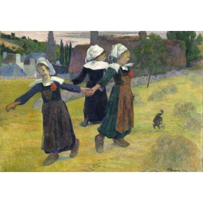 grafika-Puzzle - 100 pieces - Paul Gauguin: Breton Girls Dancing, Pont-Aven, 1888