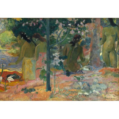 grafika-Puzzle - 100 pieces - Paul Gauguin : The Bathers, 1897