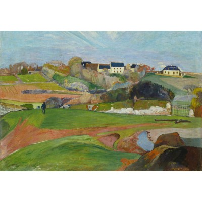 grafika-Puzzle - 100 pieces - Paul Gauguin : Landscape at Le Pouldu, 1890