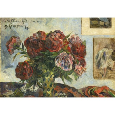 grafika-Puzzle - 100 pieces - Paul Gauguin: Still Life with Peonies, 1884