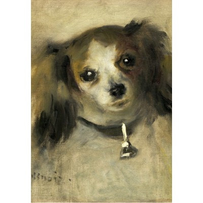 grafika-Puzzle - 100 pieces - Auguste Renoir: Head of a Dog, 1870