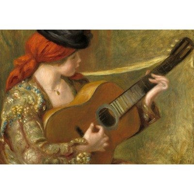 grafika-Puzzle - 100 pieces - Auguste Renoir: Young Spanish Woman with a Guitar, 1898