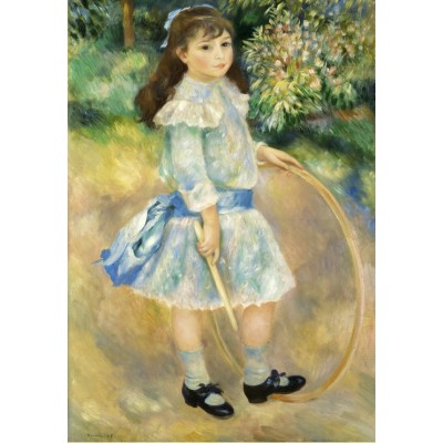 grafika-Puzzle - 100 pieces - Auguste Renoir : Girl with a Hoop, 1885