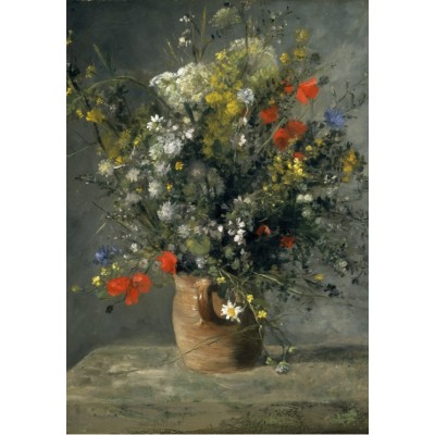 grafika-Puzzle - 100 pieces - Auguste Renoir : Flowers in a Vase, 1866