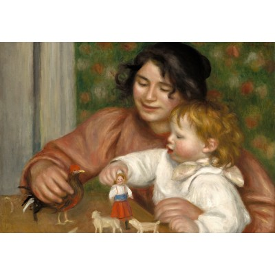 grafika-Puzzle - 100 pieces - Auguste Renoir: Gabrielle and the Artist's Son, Jean, 1895-1896