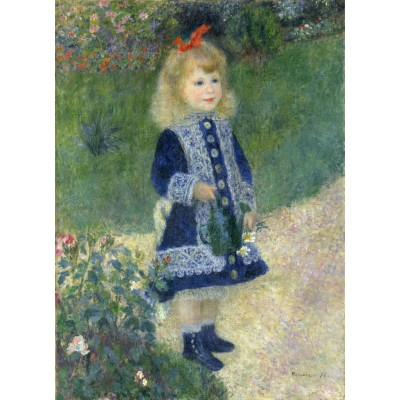 grafika-Puzzle - 100 pieces - Auguste Renoir : A Girl with a Watering Can, 1876
