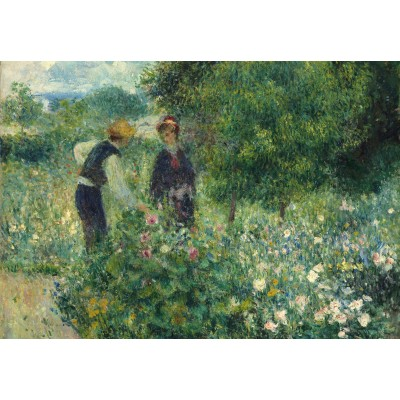grafika-Puzzle - 100 pieces - Auguste Renoir: Picking Flowers, 1875
