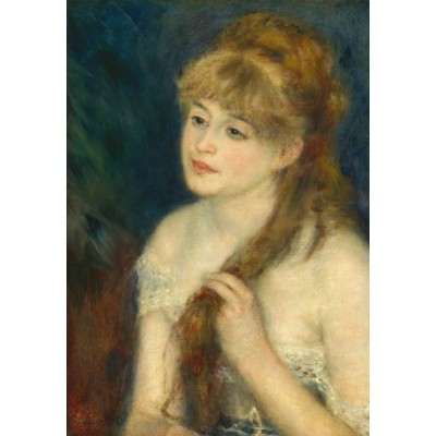 grafika-Puzzle - 100 pieces - Auguste Renoir: Young Woman Braiding Her Hair, 1876