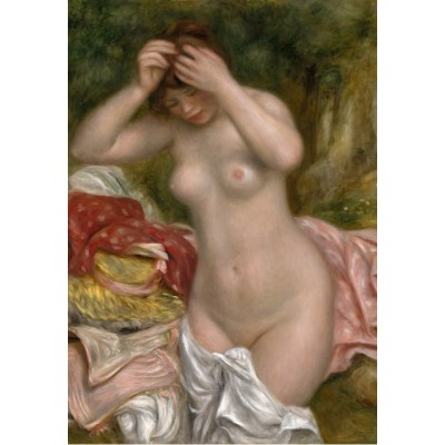 grafika-Puzzle - 100 pieces - Auguste Renoir: Bather Arranging Her Hair, 1893