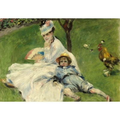 grafika-Puzzle - 100 pieces - Auguste Renoir: Madame Monet and Her Son, 1874
