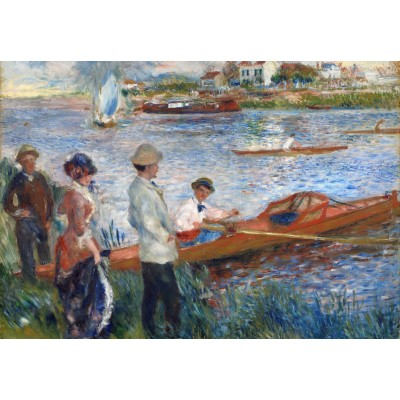 grafika-Puzzle - 100 pieces - Auguste Renoir: Oarsmen at Chatou, 1879