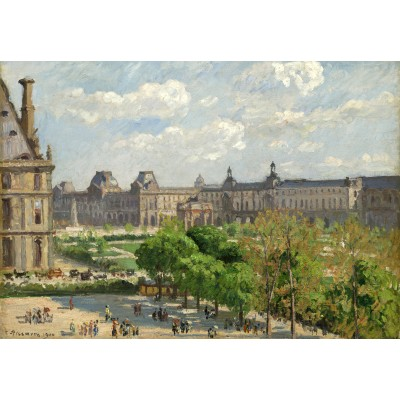 grafika-Puzzle - 100 pieces - Camille Pissarro: Place du Carrousel, Paris, 1900