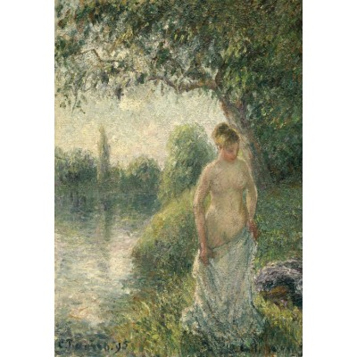 grafika-Puzzle - 100 pieces - Pissarro Camille: The Bather, 1895