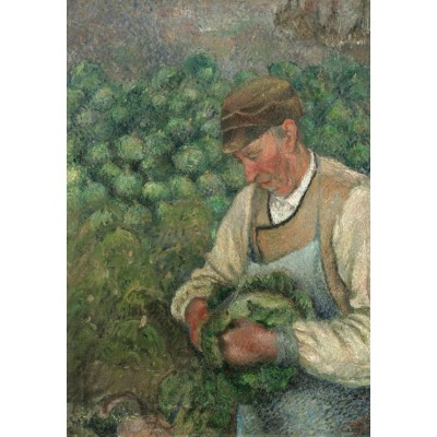 grafika-Puzzle - 100 pieces - Camille Pissarro: The Gardener - Old Peasant with Cabbage