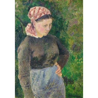 grafika-Puzzle - 100 pieces - Camille Pissarro: Peasant Woman, 1880