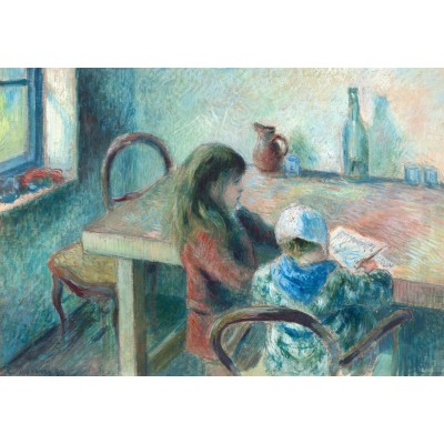 grafika-Puzzle - 100 pieces - Camille Pissarro: The Children, 1880