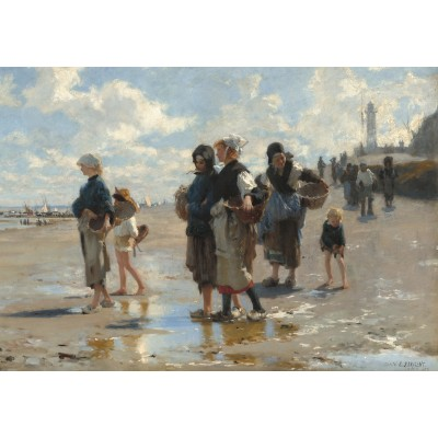 grafika-Puzzle - 100 pieces - John Singer Sargent: Setting Out to Fish, 1878